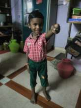 Yeshwanth showing off his strength!