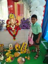 Praveen thanking God for his progress
