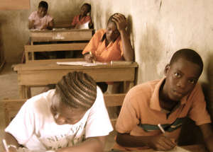 SECONDARY STUDENTS TAKING A TEST