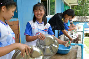 Canteen improvement - New washing stations