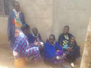Maasai women discussing girls rights to education