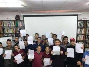 Sensitisation Workshop led by Malek in Palestine