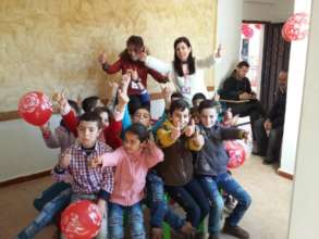 Letters of Love-Syrian Chapter spreading smiles.