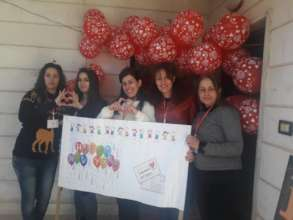 Letters of Love team in Swaida, Syria.