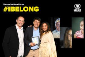 Pooja & Paul with Azizbek Ashurov at Nansen Awards