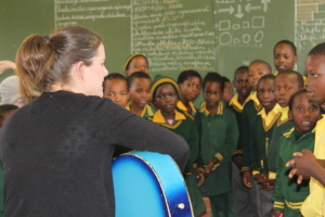 Mrs Charlotte Bouwer now trains the Grade 3 Choirs