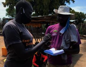 ICRAF community mobiliser interviews refugee