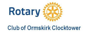 Rotary Club of Ormskirk Clocktower logo