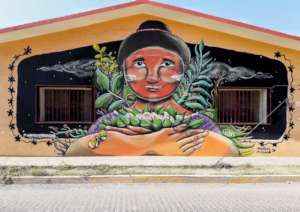 Dalila's mural: the cheesemaker