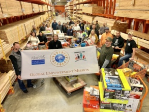 A grantee replacing lost tools for job use