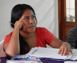 Ana Cristina in vocational guidance class