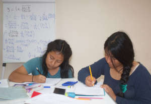 Ana and Krystel in Academic Counseling