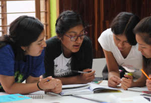 Women scholars  are trained in learning strategies