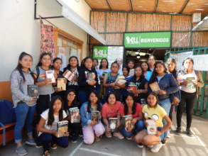 The scholars visit the Oaxaca Lending Library.