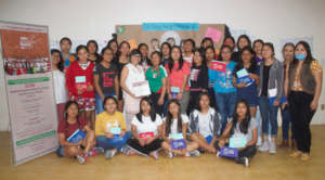 Young women in teen pregnancy prevention course