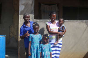 Adwoa with her family.