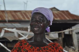 Abena, palm oil processor, Nkawie, Ghana