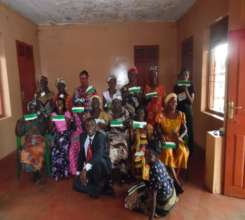 Group from Kwaso showing their check books