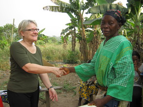 Merry meets with loan recipient