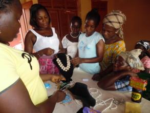 Learning beadmaking, June 2015