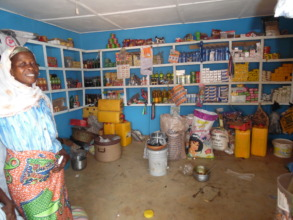 Saudatu poses in her newly stocked store