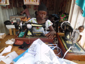 Gifty at her seamstress apprenticeship.