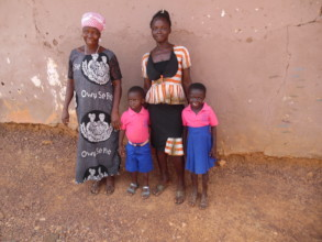 Gifty, her two children, and her mom