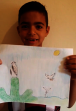 Local child in video for World Environment Day.