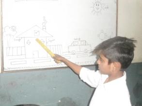 Ali participating in class