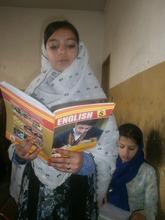 Huma reading in English class
