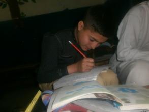 Shams doing homework
