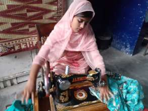 Zahida: Sowing clothes to support her family