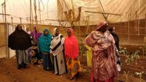 SPI Staff Naima Dido in N. Kenya with Gardeners