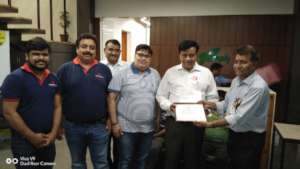 Felicitation at Bank of Baroda Head Office Rajkot