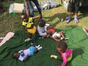 Young residents at Agatha Amani House