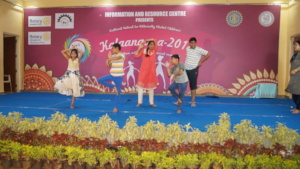Children performing Group Dance in Kalangana event
