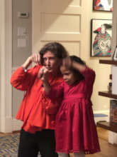 "My daughter & I ""killing it"" @ charades!"