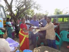 Victims received the Relief Materials