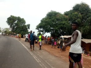 Many people fled the scene when violence began.