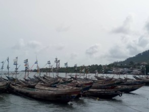 Boats in waiting, due to the new restrictions.