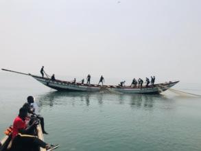 The New Boat at sea and fishing!