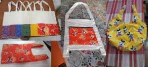 Cloth bags tailored by our children