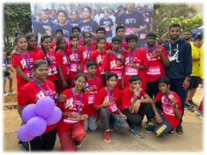 Young People at Women's Day Marathon