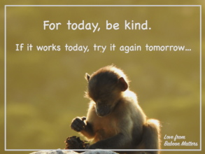 For today, be kind.