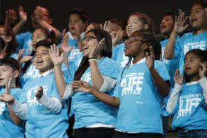 Students at Music Unites the World Festival