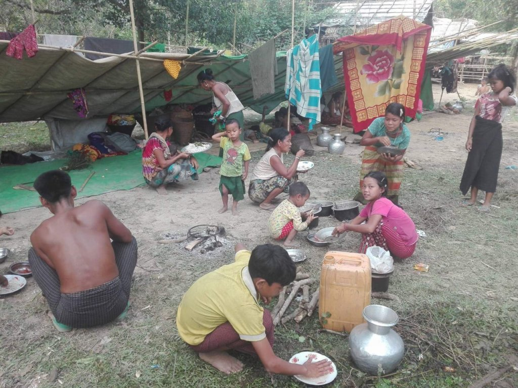 Pushed out of their homes in Myanmar