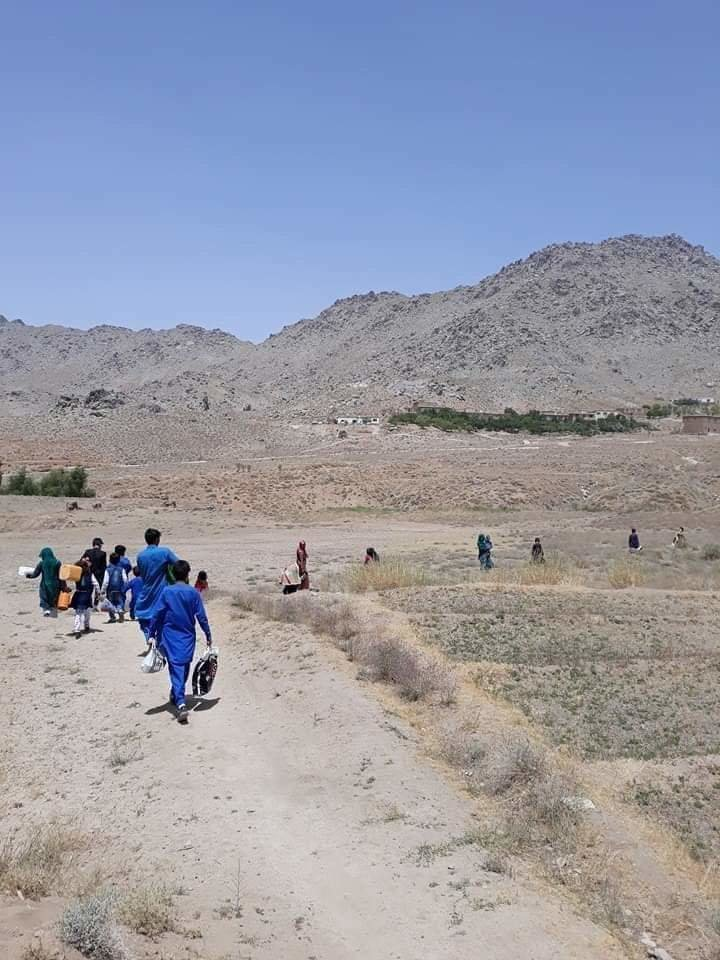 Taliban forces families' from their homes