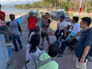 Sharing with the locals about disaster prevention