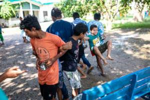 Amoeba Challenge had the teams outside having fun.