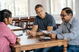 Principal David & John discuss studies with Reeva